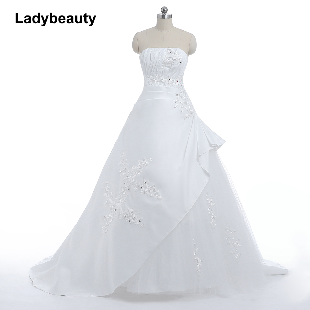 Buy ladybeauty cheap wedding dress white for Cheap wedding dress stores