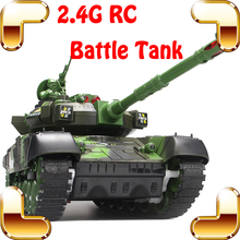 Children Day Gift Fighting Battle Tanks 2.4G 10 Channel RC Infrared Shooting Tank Electric Toy Army Vehicle Big War Tank Present