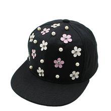 Snapback moda sombrero erizo punky Rock Hip Hop remache flor Stud Spike  punta sombrero Cap gorra de béisbol para 3-8Yrs niños 1d2cbd7e37c