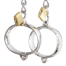 DOMI Sex Products Ankle Cuffs for Couples Bdsm Bondage Stainless Steel Handcuffs with Lock