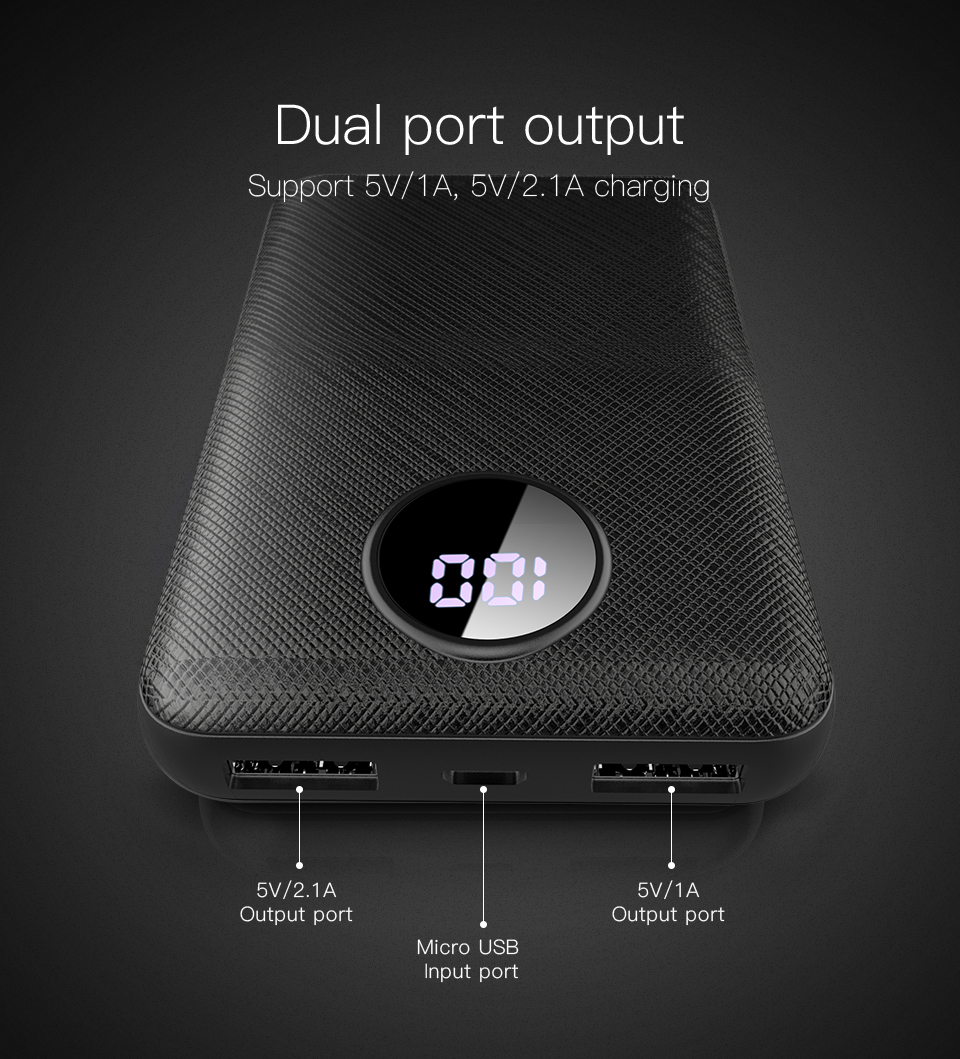 PZOZ Power Bank 10000mAh Dual USB Mobile Phone External Battery Fast Charge For iphone xiaomi mi Portable Charger mini PowerBank 5