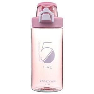 Image 5 - Спортивная бутылка 500 мл герметичная Спортивная фляжка для воды высокого качества для путешествий, прогулок, похода, бега, портативные бутылки