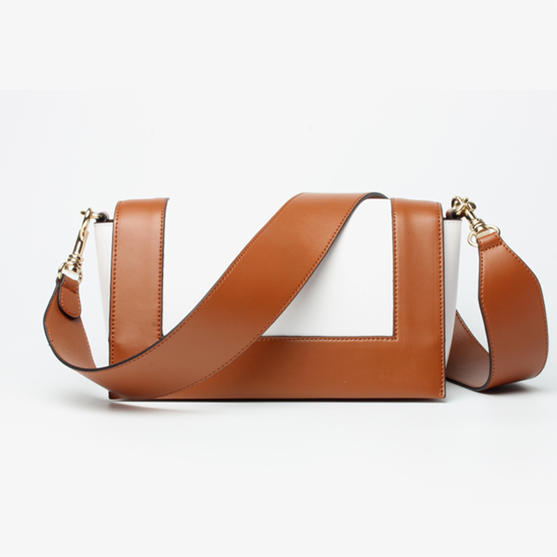 Luxury Handbags Women Bags Designer Genuine Leather Bag Brand Panelled Wide Strap Shoulder Bag Female Messenger Crossbody Bags brand luxury handbags female bag designer women leather bag female shoulder bag women messenger bags bucket tote with wide strap