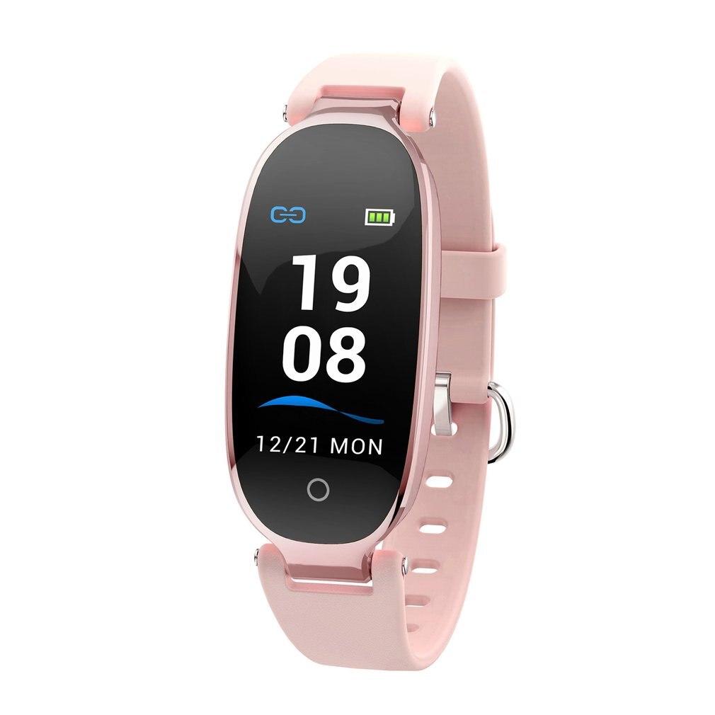 S3 couleur écran femmes bande intelligente Bracelet fille moniteur de fréquence cardiaque poignet dame femme Fitness Tracker Bracelet pour Android IOS