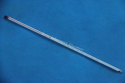 Стеклянный красный термометр с индикатором жидкости 0-200C (лабораторная стеклянная посуда)