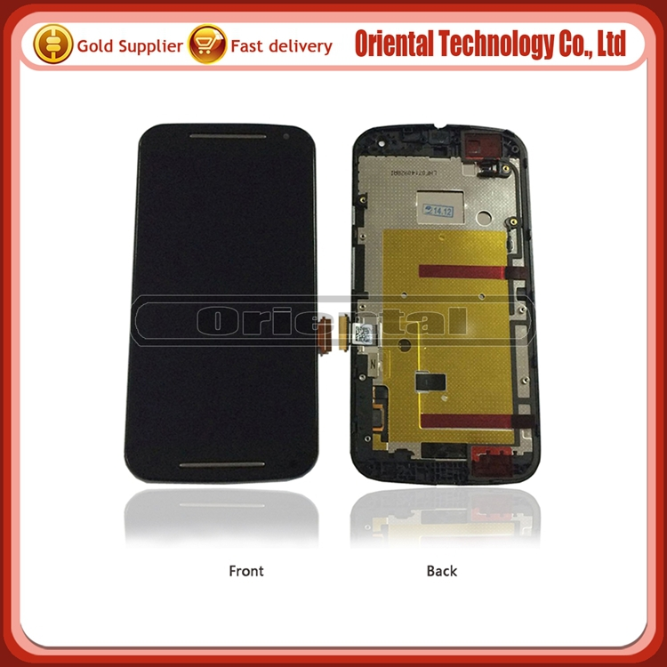 Cheap price AAA quality LCD Display For Motorola for MOTO G2 LCD with Touch Screen Digitizer Assembly with frame