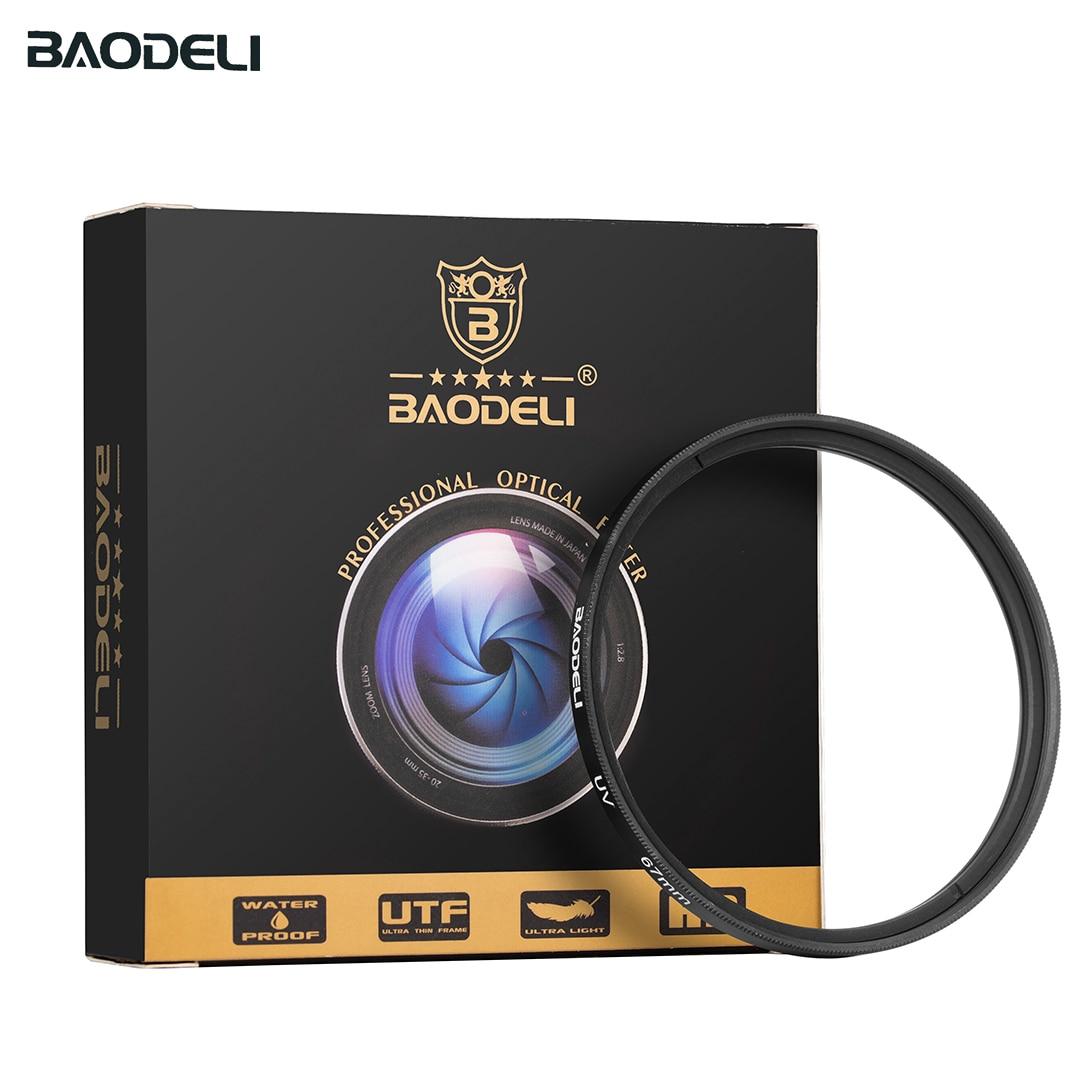 72 BAODELI DSLR Camera Lens Filtro UV Filter 49mm 37mm 40.5 43 46 52 55mm 58mm 62 72 77mm 82 mm For Nikon D3500 Canon Sony A6000 (2)