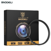 "d3500 סוני baodeli dslr BAODELI DSLR מצלמה עדשה Filtro UV מסנן 49mm 37 מ""מ 40.5 43 46 52 55mm 58mm 62 72 77mm 82 מ""מ של ניקון D3500 Canon סוני A6000 (2)"