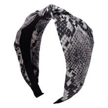 цена на Leopard Twist Knot Pattern Headband Sweet Silk Print Hair Band Fashion Headwear For Women Hair Accessories Head Bands Good