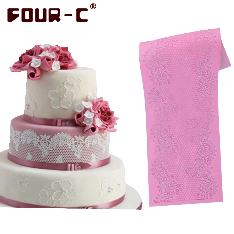 Hot 3d silicone cake lace mat silicone mold fondant cake for 3d printer cake decoration
