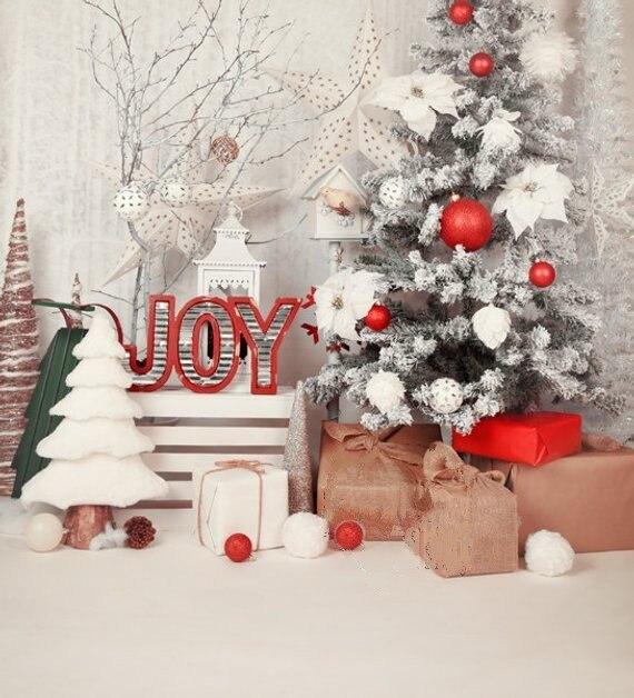 Bébé douche Famille Blanc D'hiver décorations Arbre Étoiles milieux Ordinateur imprimer enfants enfants décors