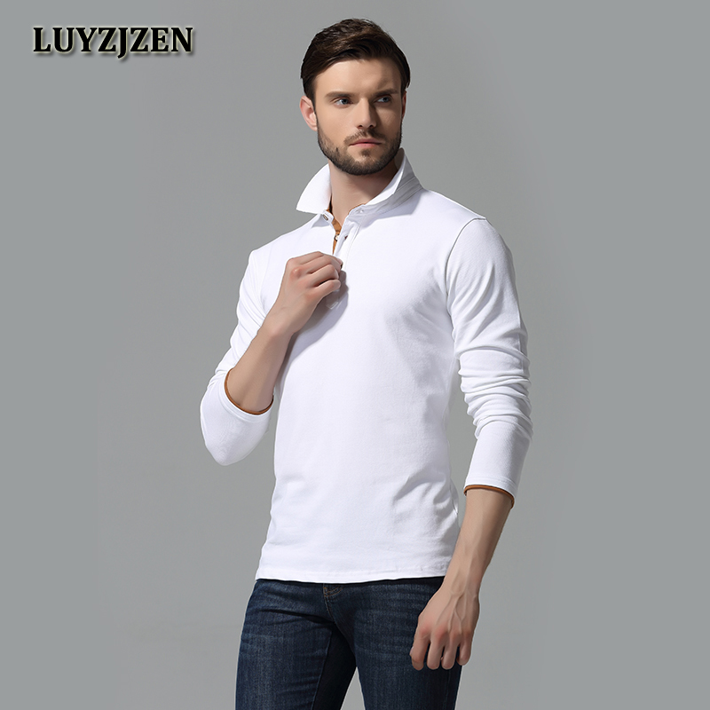 Brand Clothing New Men   Polo   Shirt Men Business Casual Solid Male   Polo   Shirt Long Sleeve Breathable   Polo   Shirts High Quality C2
