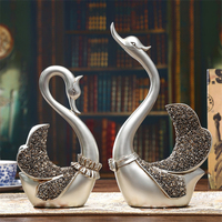2 Pcs/set Modern Swan Couples Home Decorations Abstract Birthday Gift Girl Party Ornaments Wedding Gifts Desk Decorations