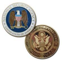 США Национальная безопасность агентства NSA позолоченная наградная Монета 62