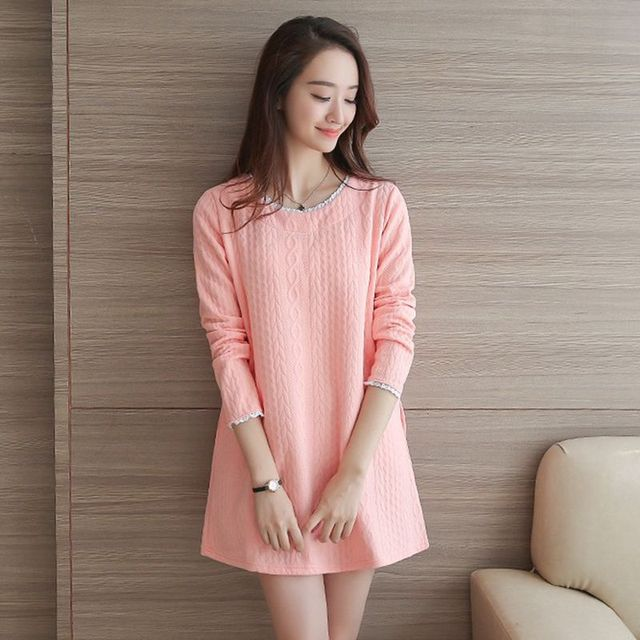 7e46bc146f Maternity Clothes New Arrival Dresses for Pregnant Women Long Sleeve Cute  Lace Pink Losse Fashion Casual