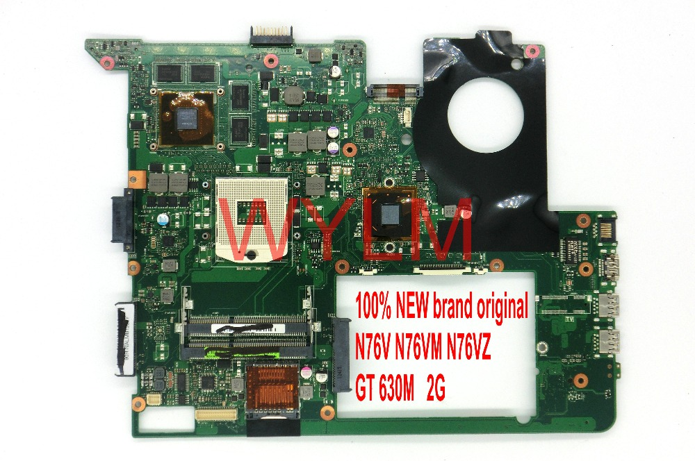 100% NEW original N76V N76VM N76VJ N76VZ N76VB motherboard GT630M 2G graphics card memory USB 3.0 DDR3 mainboard TESTED FULLY g73 vz n a2