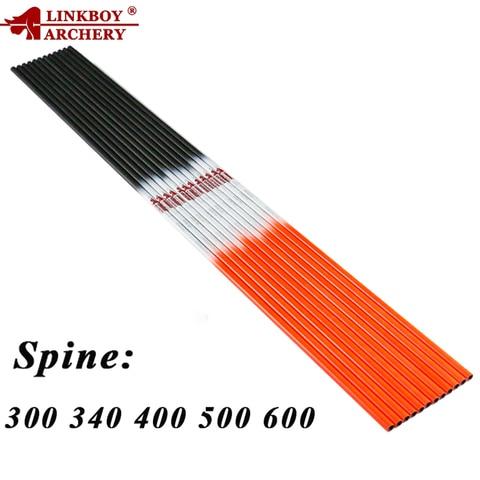 linkboy archery 12 pcs puro carbono eixos de seta 30 32 sp300 600 id6 2mm