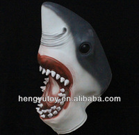 Eco friendly Latex Adult Size Realistic Mask Deluxe Costumes Shark Mask for Halloween Masquerade New Year Carnival