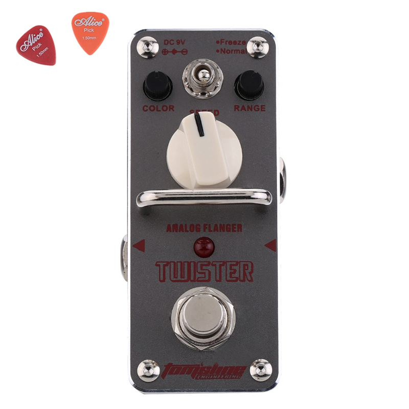 ATR-3 Twister Analog Flanger Guitar Effect Pedal Aroma Mini Single Pedals With True Bypass Footswitch Guitar Accessories aov 3 ocean verb digital reverb electric guitar effect pedal aroma mini digital pedals with true bypass guitar parts