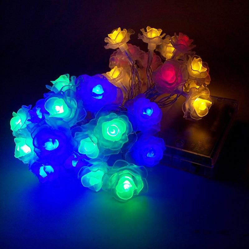Feimefeiyou nieuwste batterij aangedreven Lotus String Lights 2m 20 - Vakantie verlichting - Foto 3
