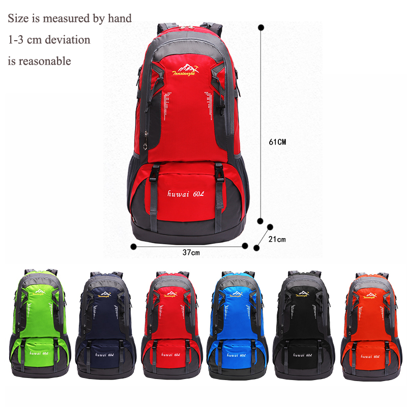 Waterproof Men'S Backpack 60L Softback Travel Backpack Travel Bag Large Backpack Camping Bag Waterproof Men'S Bags Schoolbag 3