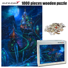 MOMEMO Nightscape of ice city wooden Puzzle 1000 pieces adult Exquisite Landscape Jigsaw toy for children gift home decor