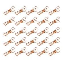 Горячая Распродажа Упаковка 25 шт. розовое золото небольшие металлические зажимы-многоцелевой бельевой утилита зажимы