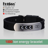 Personality Men Bracelet Energy Stainless Steel & Silicone Bracelets Magnetic Hematite Bead Jewelry For Best Friends Wristband