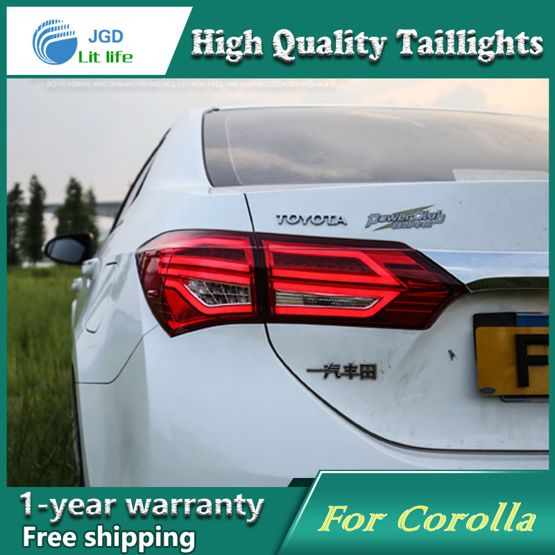 Car Styling Tail Lamp for Toyota Corolla 2014 2015 2016 taillights Tail Lights LED Rear Lamp LED DRL+Brake+Park+Signal Stop Lamp runail гель лак multilac черная кошечка