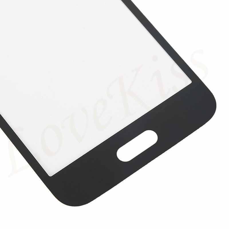 اللوحة الأمامية لسامسونج غالاكسي J1 2016 J120 J120F J120H J120M شاشة تعمل باللمس الاستشعار شاشة LCD محول الأرقام استبدال الغطاء الزجاجي