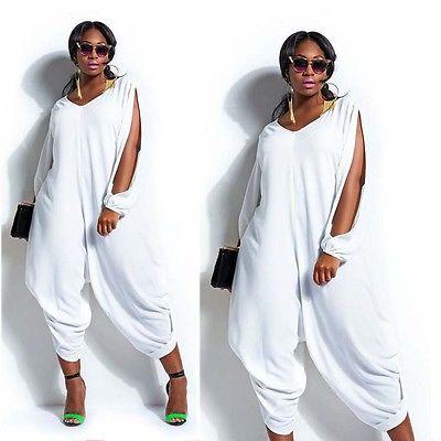 19b6081eae56 Women Hot Loose Long Sleeve Chiffon Romper Baggy Harem Jumpsuit Plus Size  Ladies Jumpsuit