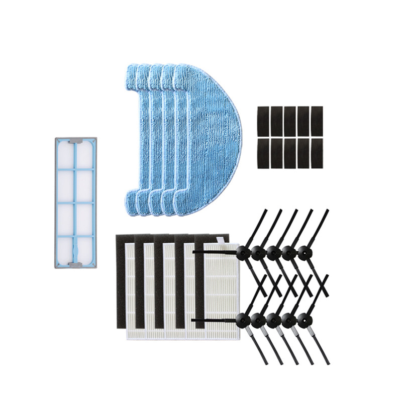 Robot Vacuum Cleaner Mop Cloth Side Brush HEPA Filters For Iboto Aqua 610g Robotic Vacuum Cleaner Pre Filter Parts Accessories