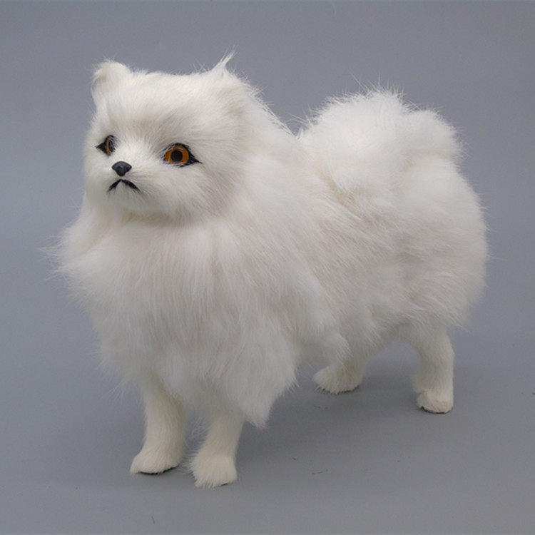 Children Gifts Realistic Plush Dog Lifelike White Standing