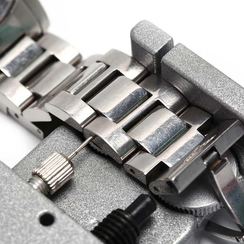 כפול אבזם מתכת פלדת שעון צמיד מוצק התאמת שולחן Watchband קישור פין Remover תיקון כלי