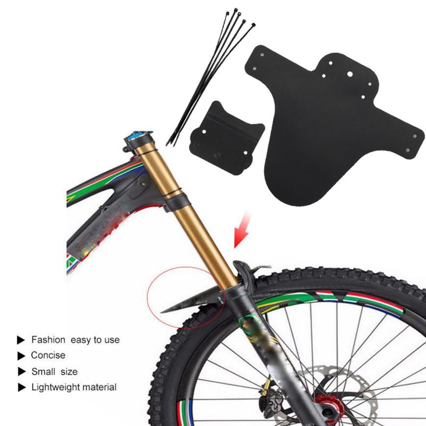 "20/"" MTB Folding Bike Mudguard Set Front+Rear Fenders Permanent Lightweight 1Pair"