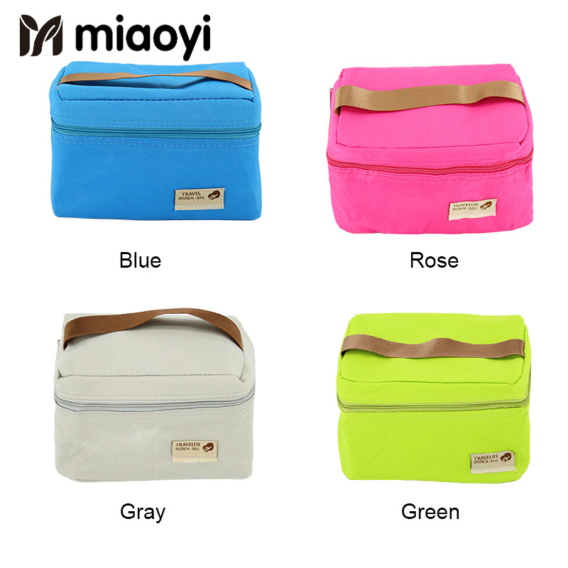 Miaoyi Practical Small Portable Ice Bags 4 Color Waterproof Cooler Bag Lunch Leisure Picnic Packet Bento Box Food Thermal Bag