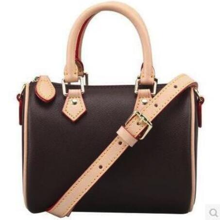 Hot selling 2018 new fashion women handbags high quality Genuine leather speedy bag free shipping