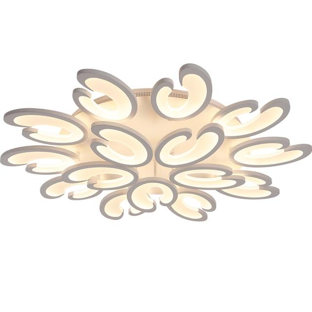 Blooming Flower Modern Led Ceiling Lights White Acrylic For Living Room Bedroom Led Ceiling Lamp Home Lighting Fixture