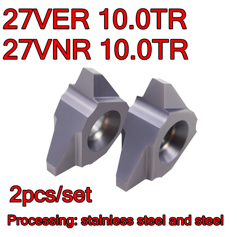 27VER 10 0TR 27VNR 10 0TR Vertical installation Carbide thread insert Processing stainless steel and steel