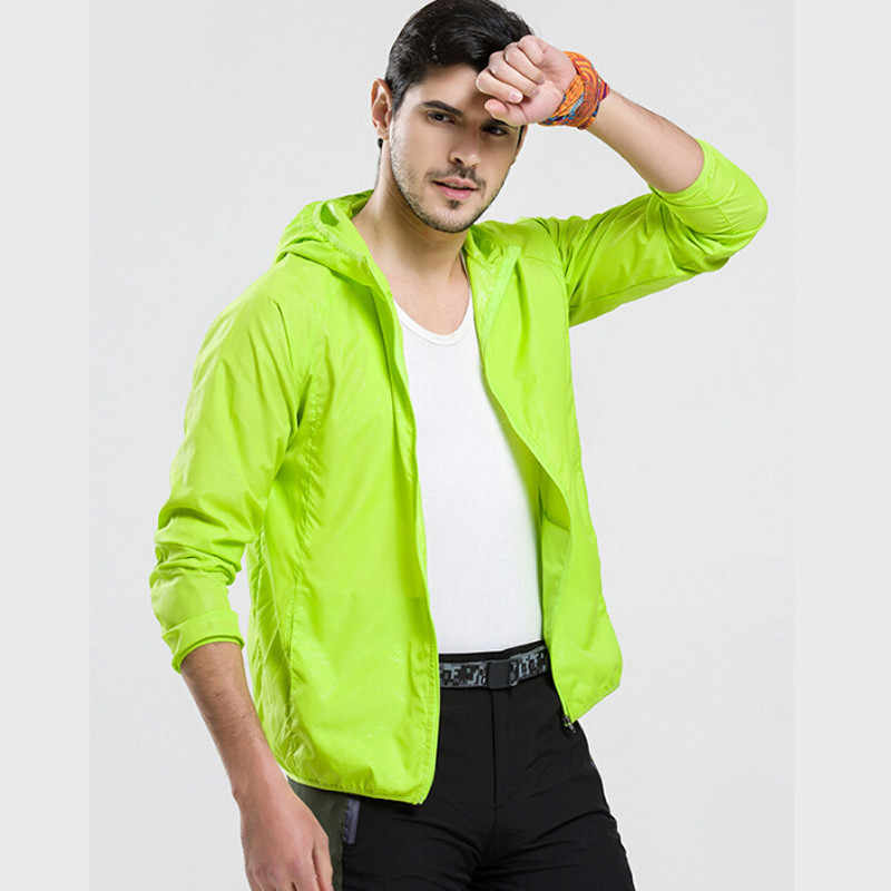 Unisex Summer Outdoor Quick Dry Sun-Protective Jacket Plus 4XL Hiking Camping Running Fishing Waterproof Clothing Protection UV