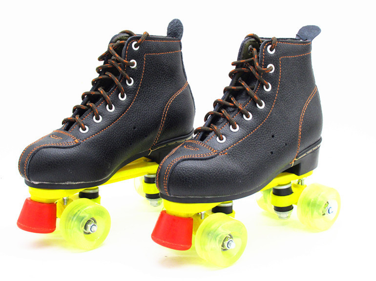 Genuine Leather Roller skates shoes 4 wheels skates for women quad 4 wheel roller skates line double rollers skates speed gift children roller sneaker with one wheel led lighted flashing roller skates kids boy girl shoes zapatillas con ruedas