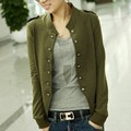 Women Fashion Slim Button Collar Casual Business Coat Suit Jacket Coat Outwear 19