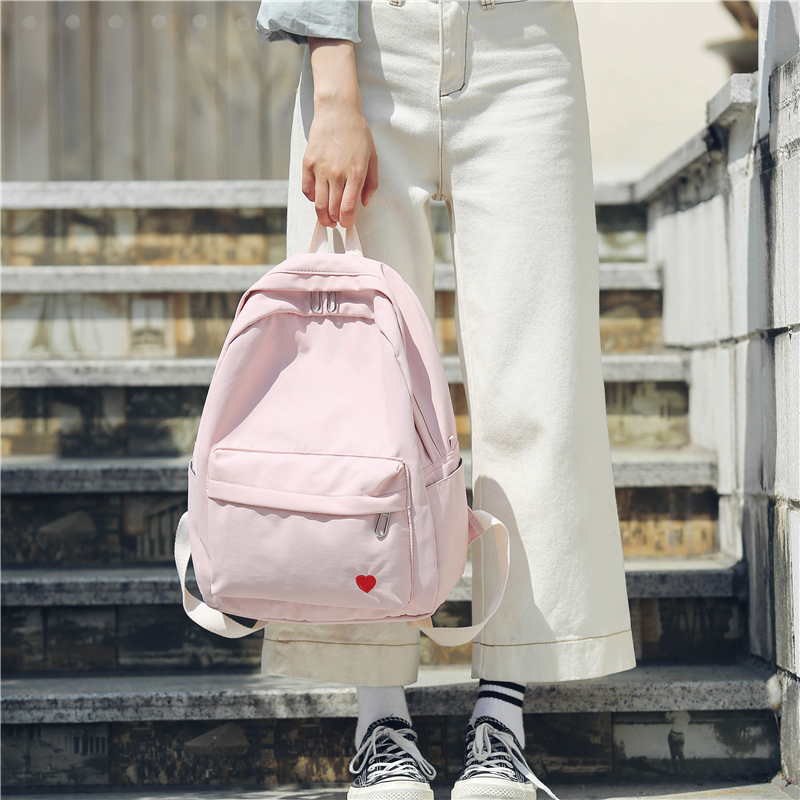 Harajuku Street Fashion School Bag Pack Women Japanese Korean Style Casual Student Backpack Girls Boys Gray Black Pink Knapsack Men's Bags