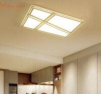 Краткое Акриловая Светодиодный Потолочные светильники ультратонких потолочный светильник для жизни кабинет lamparas де TECHO Спальня AC110 240V