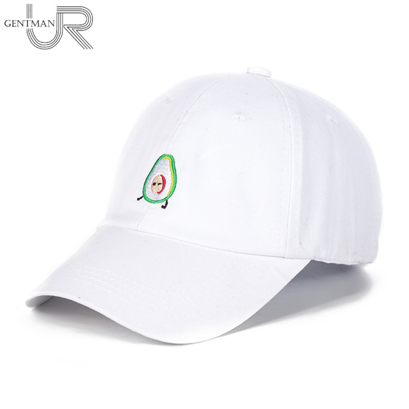 New AVOCADO Cotton Embroidery Adjustable Baseball Cap Baseball Hat Men And Women Dad Hat 2017 fashion papi unstructured baseball dad hat cap new men women cotton adjustable baseball cap black