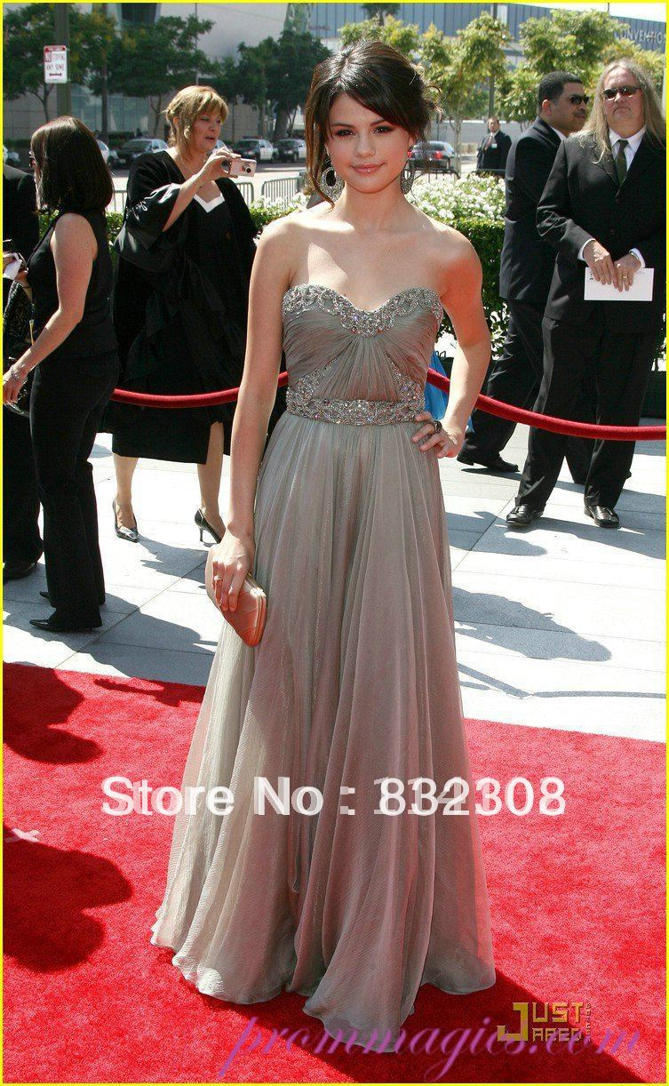 Miley Cyrus Red Carpet Celebrity Dress Charming Sweetheart Beads ...