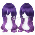 New Anime Kiss Him, Not Me / Watashi ga Motete Dosunda Cospaly Wig Serinuma Kae Purple Mixed Synthetic Hair Peruca Cos Wigs