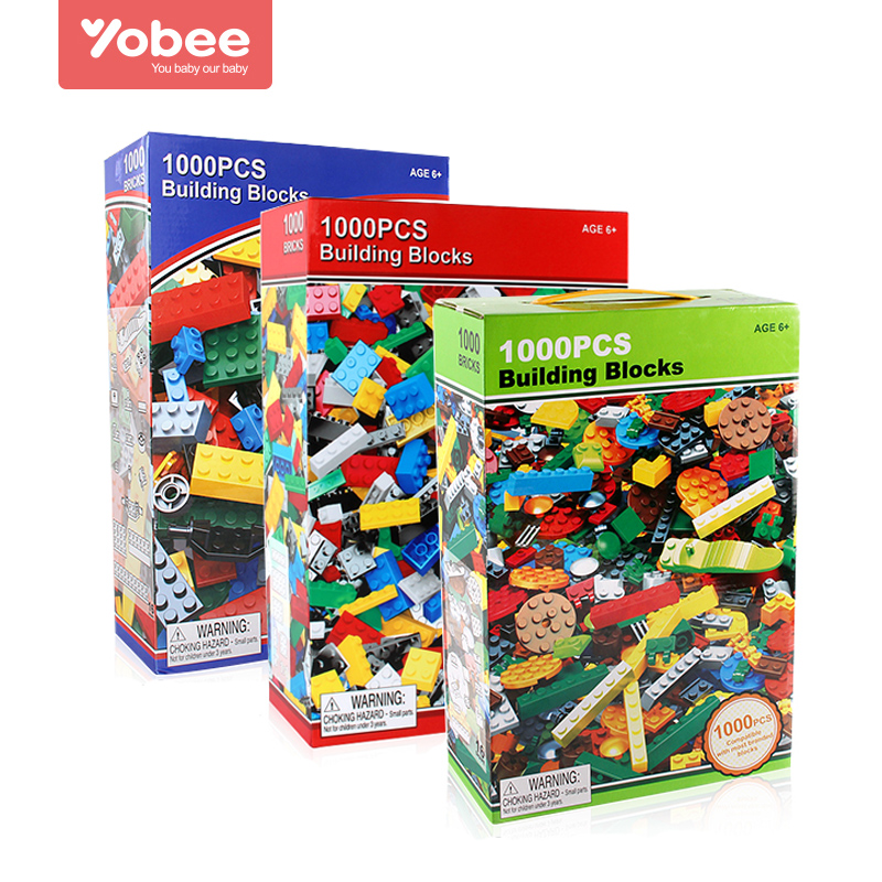 Yobee 1000pcs DIY Building Blocks Bricks Designer Creative Classic Brick Educational Toys Bulk Compatible City For Children Gift lepin 42010 590pcs creative series brick box legoingly sets building nano blocks diy bricks educational toys for kids gift