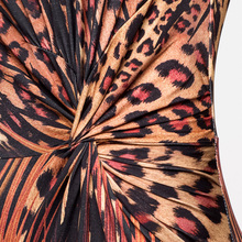 Lady Leopard Print Long Sexy Dress