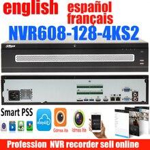 new dahua english French Spanish NVR608-128-4KS2 128ch NVR network recorder H.265 up to 12MP resolution DH-NVR608-128-4KS2